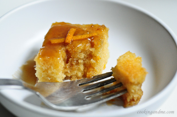 One-Bowl Orange Cake with Toffee Sauce
