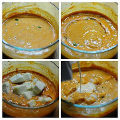 30-Min Microwave Paneer Makhani Recipe