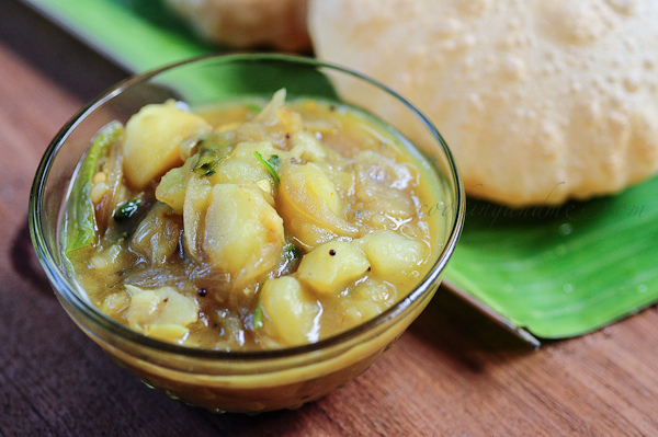 Potato Masala Recipe - Aloo Masala for Poori