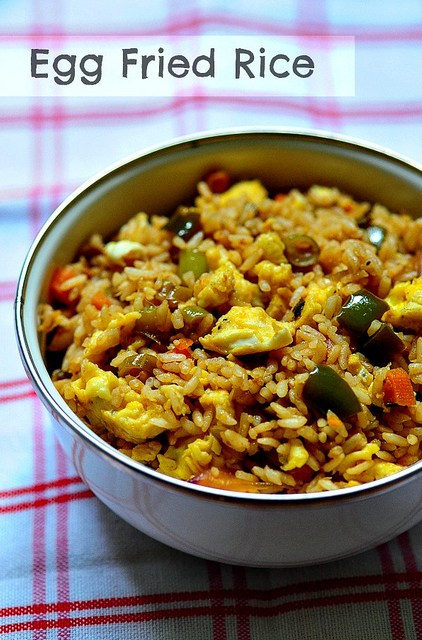how to cook rice with an egg