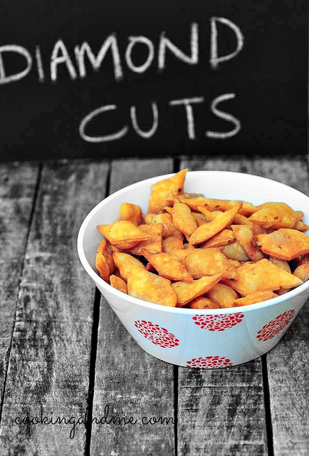 Spicy Diamond Cuts Recipe-Savory Diamond Cuts Recipe