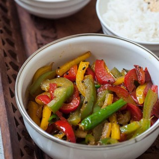 Capsicum Masala Recipe – Capsicum (Bell Pepper) Stir Fry Recipe