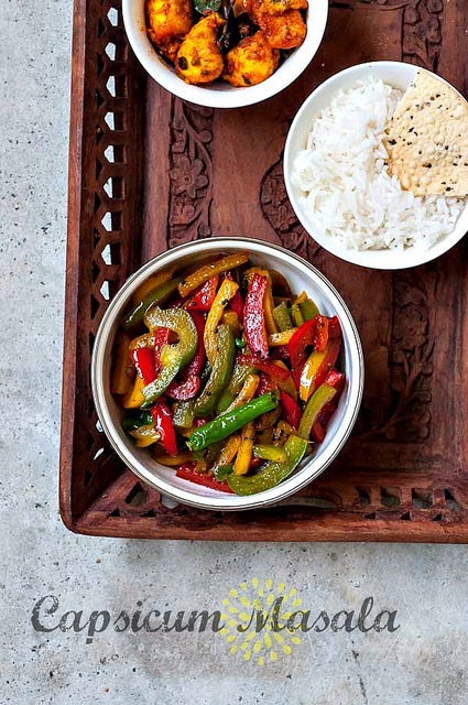 capsicum masala-capsicum stir fry recipe