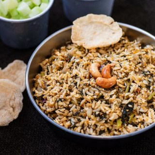 Spinach Rice Recipe, Indian Palak Rice Step by Step