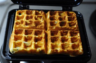 crispy waffles with cacao nibs-11