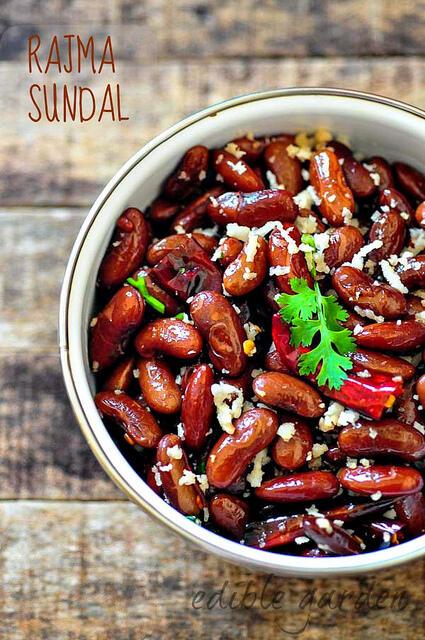 rajma sundal-kidney beans sundal south indian navratri recipe-7