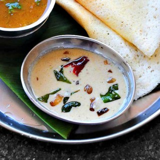 white coconut chutney recipe