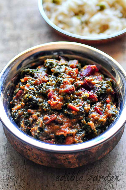 beetroot leaves dal-masoor dal recipe with beet leaves