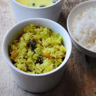 Cabbage poriyal recipe, South Indian cabbage poriyal