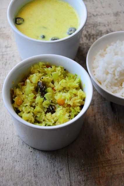 cabbage poriyal recipe, how to make cabbage poriyal