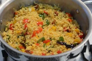 capsicum rice, capsicum masala rice recipe-8
