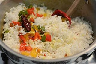 capsicum rice, capsicum masala rice recipe-6