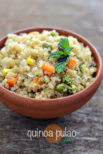 Quinoa vegetable pulao recipe easy indian recipes with quinoa quinoa pulao with vegetables is one of my success stories quinoa has a nutty flavour and lacks the sweetness and stickiness of rice so id definitely say forumfinder Image collections