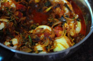 Kerala egg roast mutta roast recipe-7