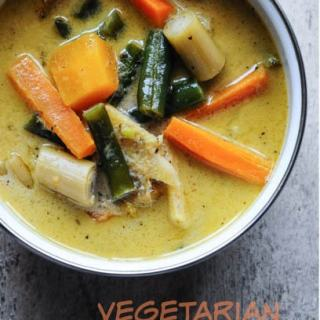 Vegetarian Thai Green Curry Recipe, Step by Step