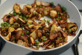mushroom peas masala dry recipe-4