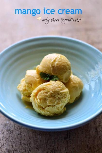 recipes to use up ripe mangoes - mango ice cream recipe