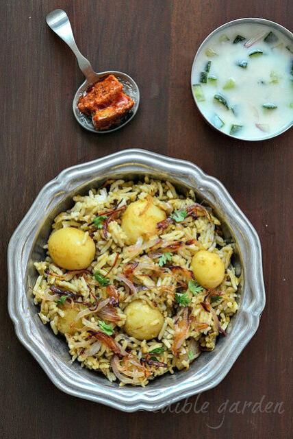 Baby Potato Biryani Recipe Baby Potato Biryani Step By Step