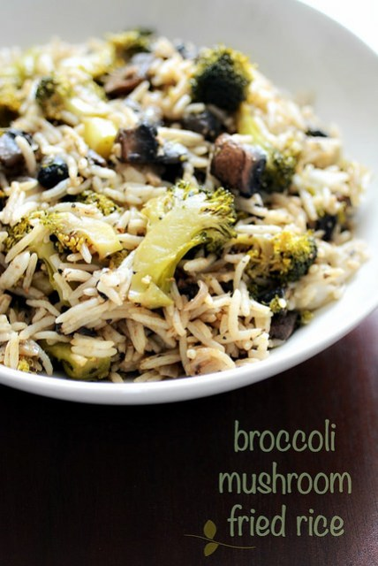 broccoli mushroom fried rice recipe