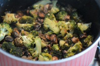 broccoli mushroom fried rice recipe-7