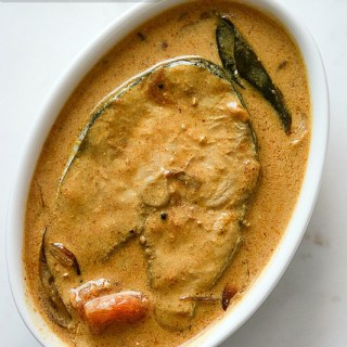 Fish curry recipe with coconut milk, step by step