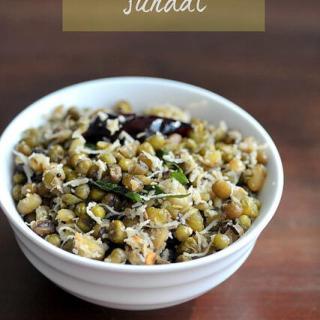 Green Gram Sundal Recipe, Pacha Payaru Navratri Sundal