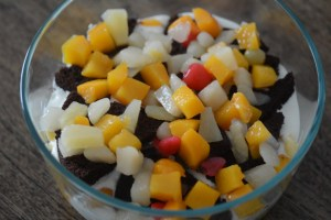 easy trifle recipe, trifle pudding with chocolate cake-17