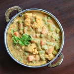 mughlai vegetable korma, how to make mughlai vegetable korma