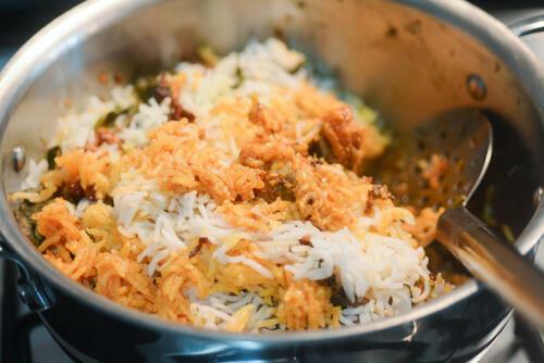 chicken dum biryani recipe, how to make chicken dum biryani