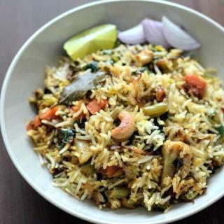 Hyderabadi vegetable dum biryani recipe, veg dum biryani