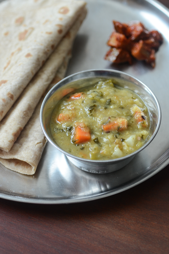 mixed vegetable dal recipe, step by step