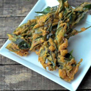 Curry leaves pakoda recipe, easy evening snack recipes