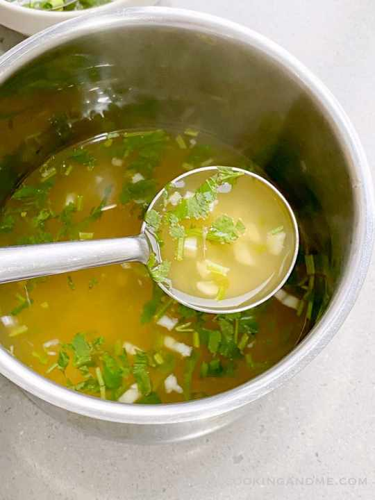 soup base for Thai steamed fish