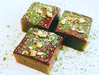 CAFs Salted Caramel and Matcha Fudge
