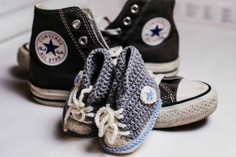 His & Hers - Mommy - Baby Chucks LOVE