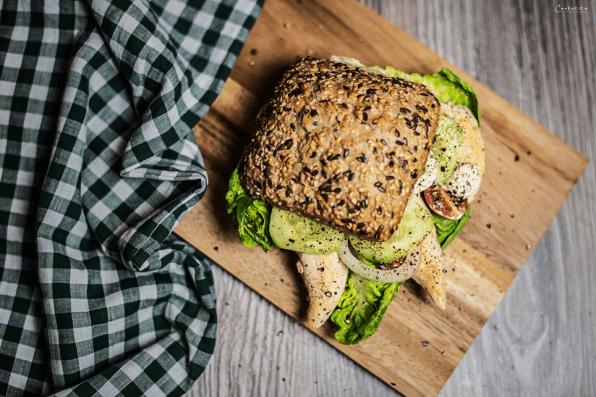 Burger mit Hendlspitzen