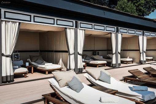 Cabana mit Sonnen-& Schattenplätzen