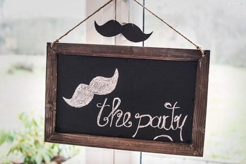 moustache party chalkboard