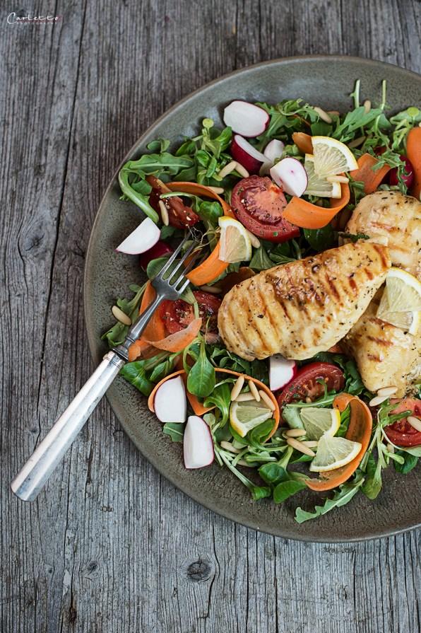Hendl auf Salat