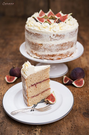 Earl Grey Cake with honey & figs