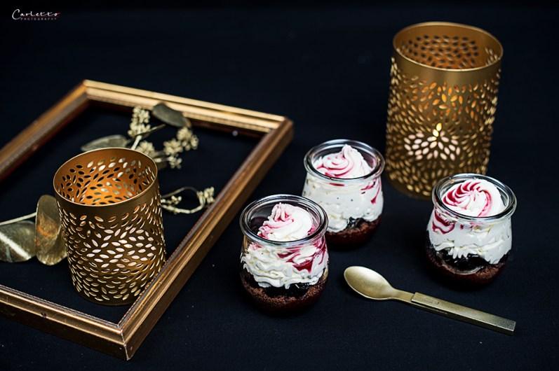 kirsch dessert glas