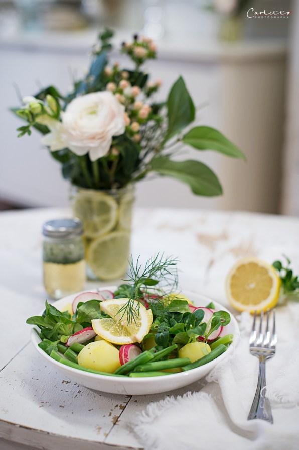 Frühlings-Kartoffelsalat mit Zitronendressing