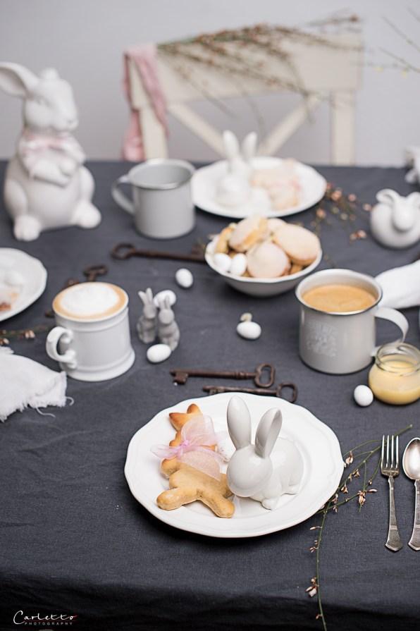 Topfen Osterhasen mit Kaffee