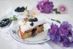 Blueberry flat cake