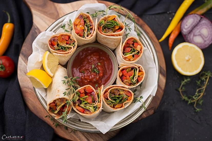 Gemuese Salsa Wraps