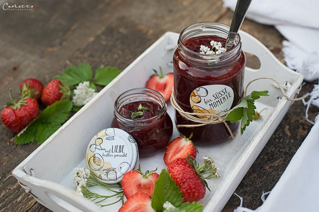 Hausgemachte Erdbeer Marmelade
