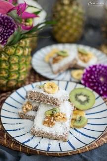 Glutenfreie Kokos-Bananen-Riegel