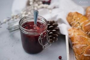 Lebkuchen Scones mit Marmelade