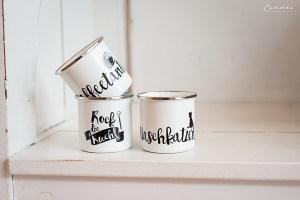 Emaille Tassen Set