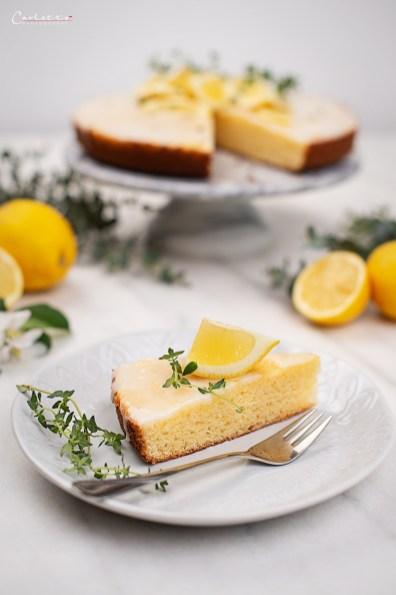 Zitronen Brownies zuckerfrei